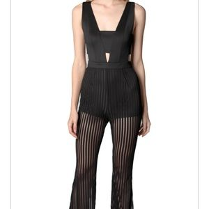 Mustard Seed | cutouts illusion stripe jumpsuit